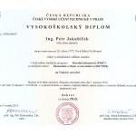 Doktorský diplom, Ing. Petr Jakubíček, Ph.D.